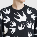 Мужская толстовка McQ Alexander McQueen Crew Neck Swallow Swarm Darkest Black фото- 3