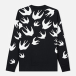 Мужская толстовка McQ Alexander McQueen Crew Neck Swallow Swarm Darkest Black фото- 1