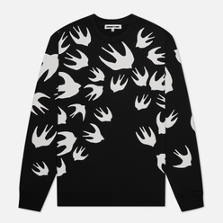 Мужская толстовка McQ Alexander McQueen Crew Neck Swallow Swarm Darkest Black