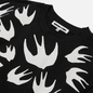 Мужская толстовка McQ Alexander McQueen Crew Neck Swallow Swarm Darkest Black фото - 1