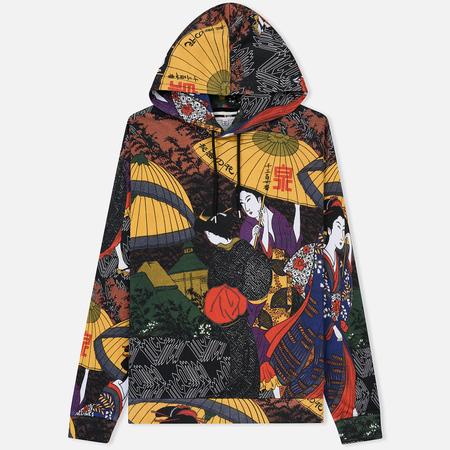 Мужская толстовка McQ Alexander McQueen Oversized Hoodie Kimono Print Multicolor