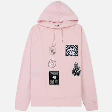 Мужская толстовка McQ Alexander McQueen Reversed Twisted Hoodie Post It Pink