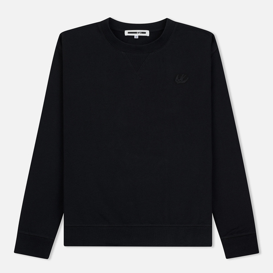 Мужская толстовка McQ Alexander McQueen Swallow Embroidery Coverlock Crew Darkest Black