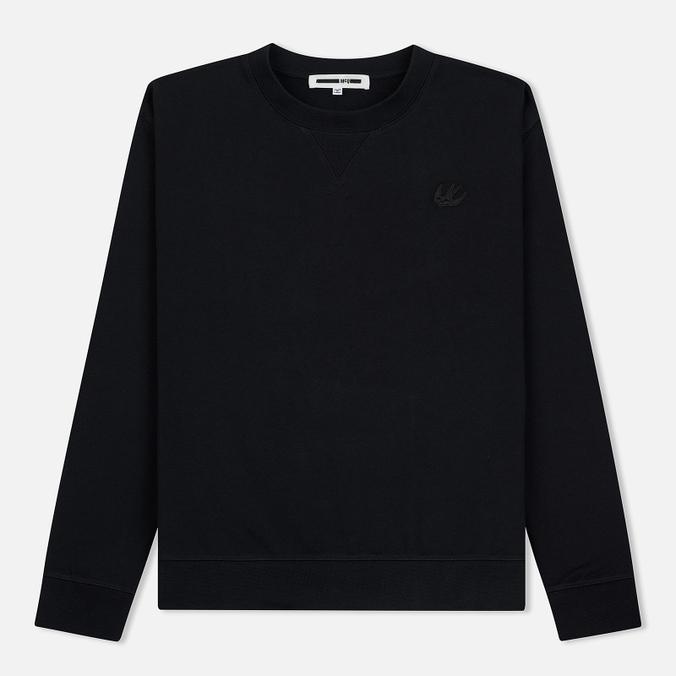 Мужская толстовка McQ Alexander McQueen Swallow Embroidery Coverlock Crew Darkest Black
