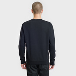 Мужская толстовка McQ Alexander McQueen Swallow Embroidery Coverlock Crew Darkest Black фото- 2