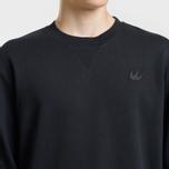 Мужская толстовка McQ Alexander McQueen Swallow Embroidery Coverlock Crew Darkest Black фото- 3