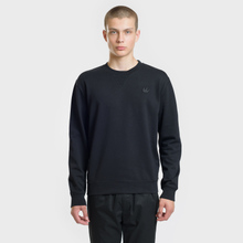 Мужская толстовка McQ Alexander McQueen Swallow Embroidery Coverlock Crew Darkest Black фото- 1