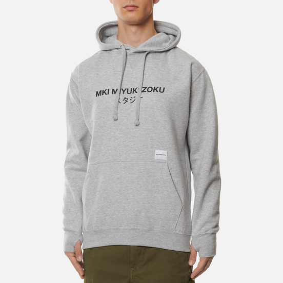 Мужская толстовка MKI Miyuki-Zoku Classic Logo Hoody Grey
