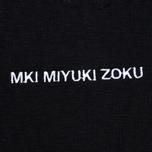 Мужская толстовка MKI Miyuki-Zoku Embroidered Logo Hoody Black фото- 4