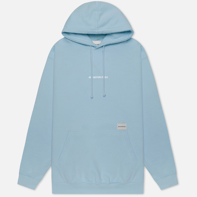 Мужская толстовка MKI Miyuki-Zoku Embroidered Logo Hoody Light Blue