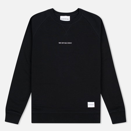 MKI Miyuki-Zoku Embroidered Logo Sweat Men's Sweatshirt Black