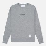 Мужская толстовка MKI Miyuki-Zoku Embroidered Logo Sweat Grey фото- 0