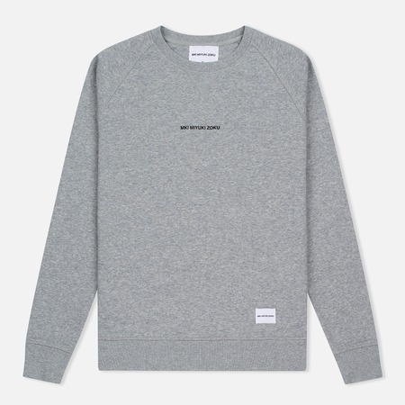 Мужская толстовка MKI Miyuki-Zoku Embroidered Logo Sweat Grey