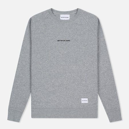 MKI Miyuki-Zoku Embroidered Logo Sweat Men's Sweatshirt Grey