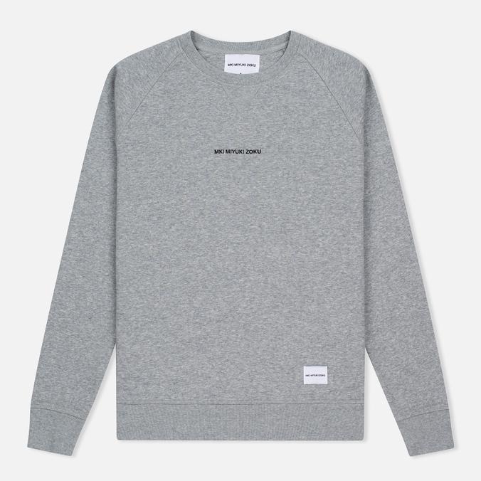 Мужская толстовка MKI Miyuki-Zoku Embroidered Logo Sweat Grey
