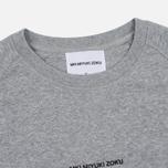 Мужская толстовка MKI Miyuki-Zoku Embroidered Logo Sweat Grey фото- 1