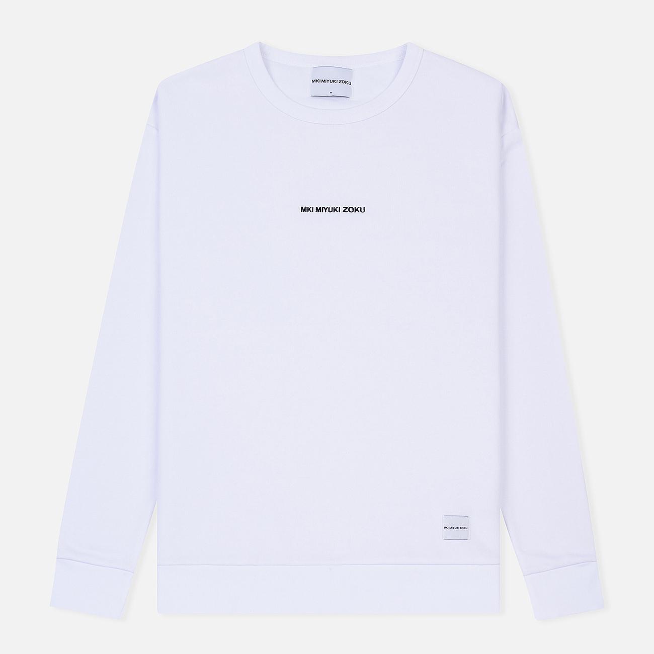 Мужская толстовка MKI Miyuki-Zoku Embroidered Logo Sweat White