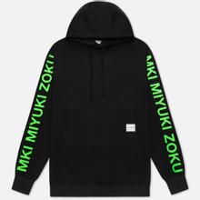 Мужская толстовка MKI Miyuki-Zoku Neon Logo Hoody Black фото- 0