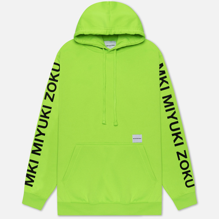Мужская толстовка MKI Miyuki-Zoku Neon Logo Hoody Flo Green