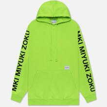 Мужская толстовка MKI Miyuki-Zoku Neon Logo Hoody Flo Green фото- 0