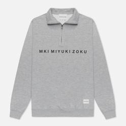 Мужская толстовка MKI Miyuki-Zoku Quarter Zip Sweater Grey