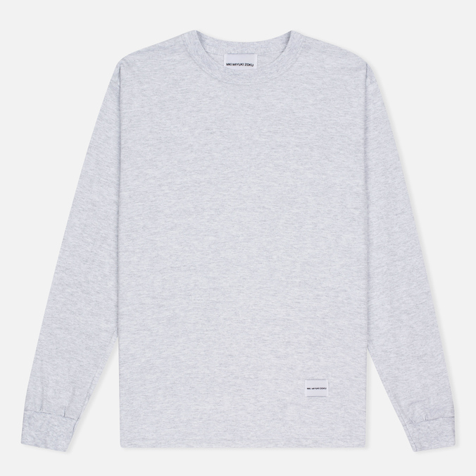MKI Miyuki-Zoku SS 16 Long Sleeve Men's Sweatshirt Light Grey Marl