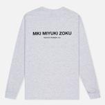 Мужская толстовка MKI Miyuki-Zoku SS 16 Long Sleeve Light Grey Marl фото- 3