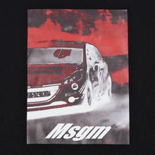 Мужская толстовка MSGM Colorful Logo Print Crew Neck Black фото- 2