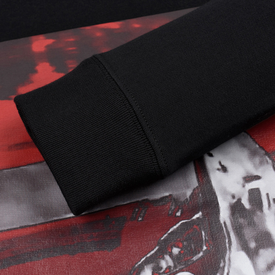 Мужская толстовка MSGM Colorful Logo Print Crew Neck Black