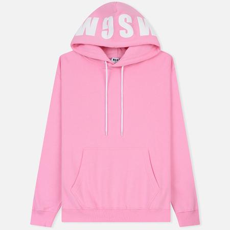 Мужская толстовка MSGM Contrast Logo Hoodie Pink