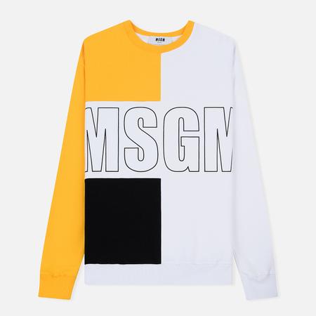 Мужская толстовка MSGM Front Big Logo White