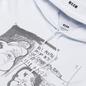 Мужская толстовка MSGM Graffiti Print Hoodie Optical White фото - 1