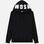 Мужская толстовка MSGM Hooded Logo Black/White фото- 0