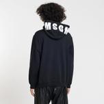 Мужская толстовка MSGM Hooded Logo Black/White фото- 2