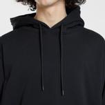 Мужская толстовка MSGM Hooded Logo Black/White фото- 3