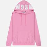Мужская толстовка MSGM Hooded Logo Pink фото- 0