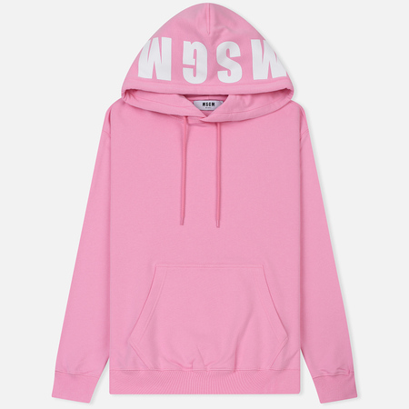 Мужская толстовка MSGM Hooded Logo Pink