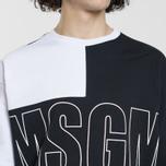Мужская толстовка MSGM Logo Crew Neck White/Grey/Black фото- 3