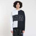 Мужская толстовка MSGM Logo Crew Neck White/Grey/Black фото- 1