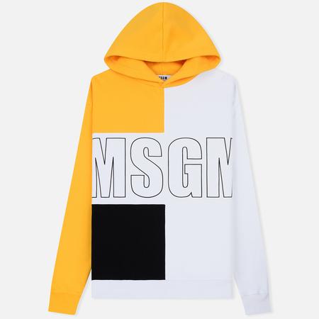 Мужская толстовка MSGM Logo Hoodie MSGM White