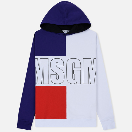 Мужская толстовка MSGM Logo Hoodie Purple/Red/White