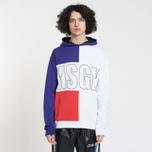 Мужская толстовка MSGM Logo Hoodie Purple/Red/White фото- 1
