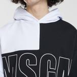 Мужская толстовка MSGM Logo Hoodie White/Grey/Black фото- 3