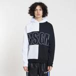 Мужская толстовка MSGM Logo Hoodie White/Grey/Black фото- 1