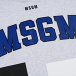 Мужская толстовка MSGM Logo Print Hoodie Grey фото- 2