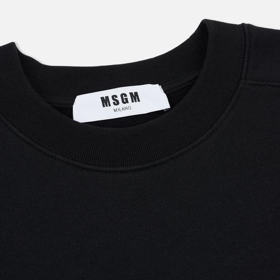 Мужская толстовка MSGM Micro Logo Print MSGM Black
