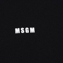 Мужская толстовка MSGM Micro Logo Print MSGM Black фото- 2