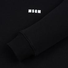 Мужская толстовка MSGM Micro Logo Print MSGM Black фото- 3