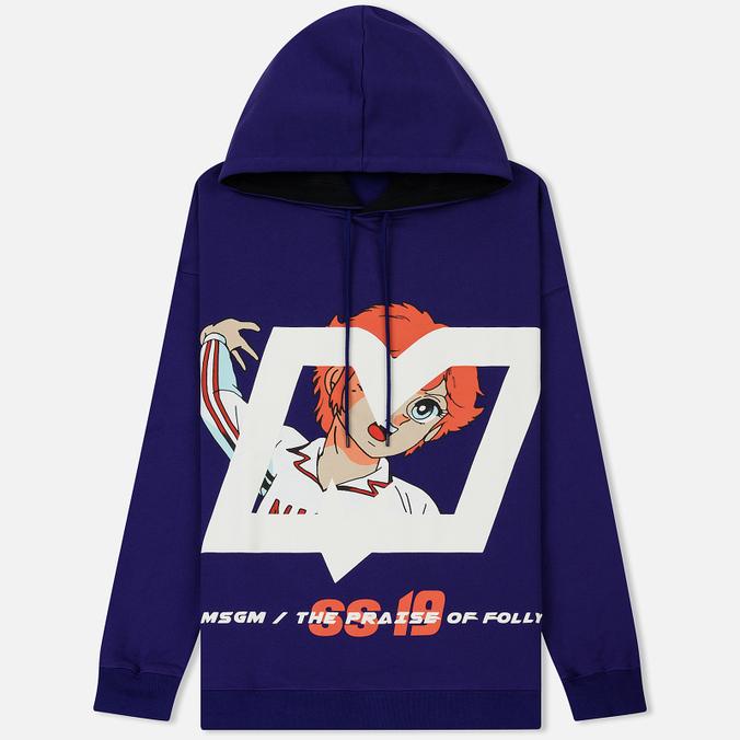 Мужская толстовка MSGM Mila And Logo Print Violet
