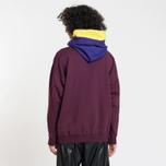 Мужская толстовка MSGM Multicolor Hoodie Bordeaux фото- 3